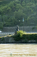 The siren on the famous Loreley Rock