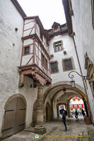 Rothenburg Town Hall courtyard