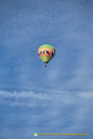Hot air balloon over Rothenburg