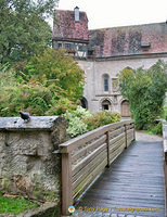 Small bridge to St Wolfgang's Church