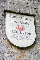 Rothenburg Klingentor or gate