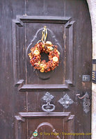 Beautiful door decorations in Rothenburg