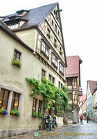 Cobbled street of Rothenburg