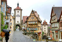One of the most famous views of Rothenburg