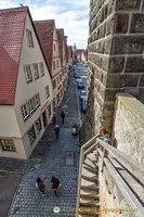 One of the exits from the Rothenburg wall