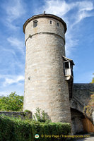 The huge cylindrical Straftturm