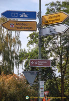 Signpost to the Romantic Road