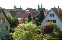 Homes within the Rothenburg wall