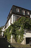 Breuer's Rudesheimer Schloss hotel has 23 rooms and 3 suites[Rudesheim - Rhine River Cruise - Germany]