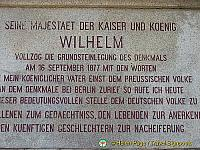 Plaque commemorating Kaiser Wilhelm