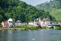 View of Trarbach across the Moselle river