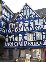 "This ""smalteblau"", blue house, dates back to 1593"