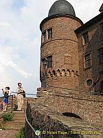 Tony going up to the Wertheim Castle