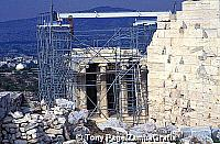 Temple of Athena Nike under renovation