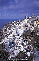 On the island of Santorini