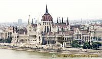 View of Hungarian Parliament from Fisherman's Bastion