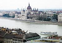 View of the Danube and the Hungarian Parliament