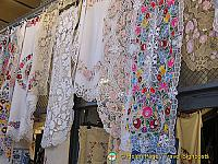 Beautiful embroideries at the Great Market Hall