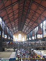 Looking down the length of the Great Market Hall