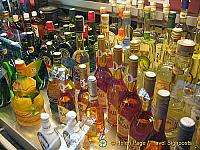 An array of Hungarian alcohol