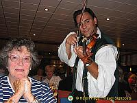 Barbara being serenaded