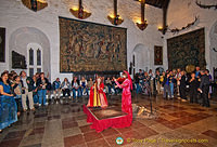 Medieval music entertain in the Great Hall