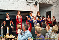 Entertainment during the medieval banquet