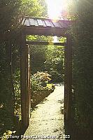 The pilgrim soul enters the garden through the Gate of Oblivion