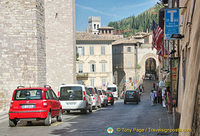 Road into Assisi town