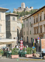 Assisi town with Rocca Maggiore towering over it