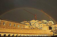 Rainbow casting a magical arc over Assisi