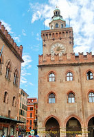 Bologna Clock Tower and the Town Hall
