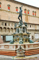 The Neptune Fountain in front of the Biblioteca Salaborsa