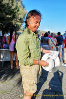 Tony with our 08:45 hydrofoil tickets to Capri