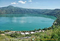 What a beautiful view of Lake Albano