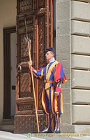 Closeup of a Papal Palace guard