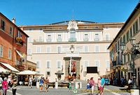 17th century Palazzo Pontificio with the Town Hall on the right