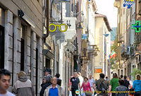 Shopping street of Como