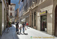 Shopping street in Como