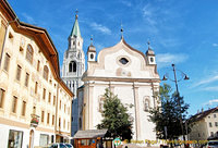 The Parish Church of Cortina d'Ampezzo on via Mercato