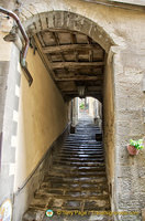 One of the narrow passages of medieval Cortona
