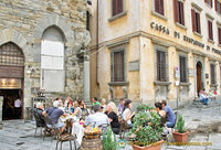 Cafe on Piazza Signorelli