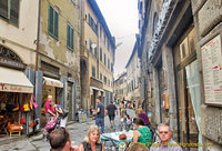 via Nazionale is the main street in Cortona