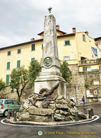 "Garribaldi monument in Piazza Garribaldi or ""La Carbonaia "" as known by the locals"