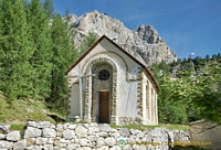 A pretty small chapel on the road to Passo Giau