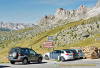 Car parking at Passo Giau