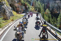 A bikies' day out in the Dolomites