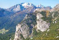 View of Dolomites