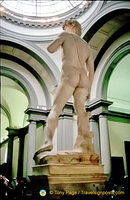 Rear view of David