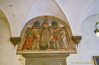 Frescoes by the school of Domenico Ghirlandaio